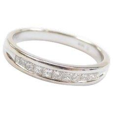 .38 ctw Princess Cut Diamond 14k White Gold Ring