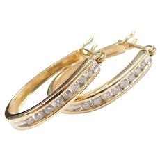 .40 ctw Diamond Hoop Earrings