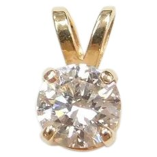.47 Carat Diamond Solitaire Pendant 14k Gold