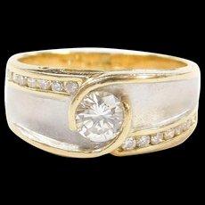 Vintage 18k Gold Two-Tone .54 ctw Diamond Ring