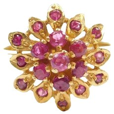 .55 ctw Natural Ruby 22k Gold Ring