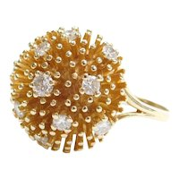 .64 ctw Diamond Cluster Sputnik Style Ring 14k Gold
