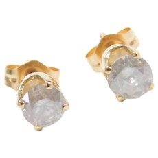 Vintage 14k Gold .64 ctw Diamond Stud Earrings