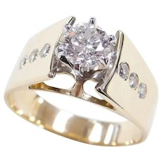 14k Gold .83 ctw Diamond Engagement Ring