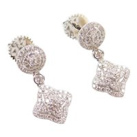 .72 ctw Diamond Drop Earrings 14k White Gold