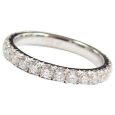 .83 ctw Diamond Wedding Band Ring 14k White Gold