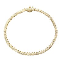 "7"" .96 ctw Diamond S-Link Tennis Bracelet 14k Gold"