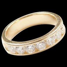 Vintage 14k Gold .98 ctw Diamond Wedding Band Ring