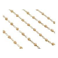 """16"""" 18k Gold Fancy Link Chain ~ 9.2 Grams"""