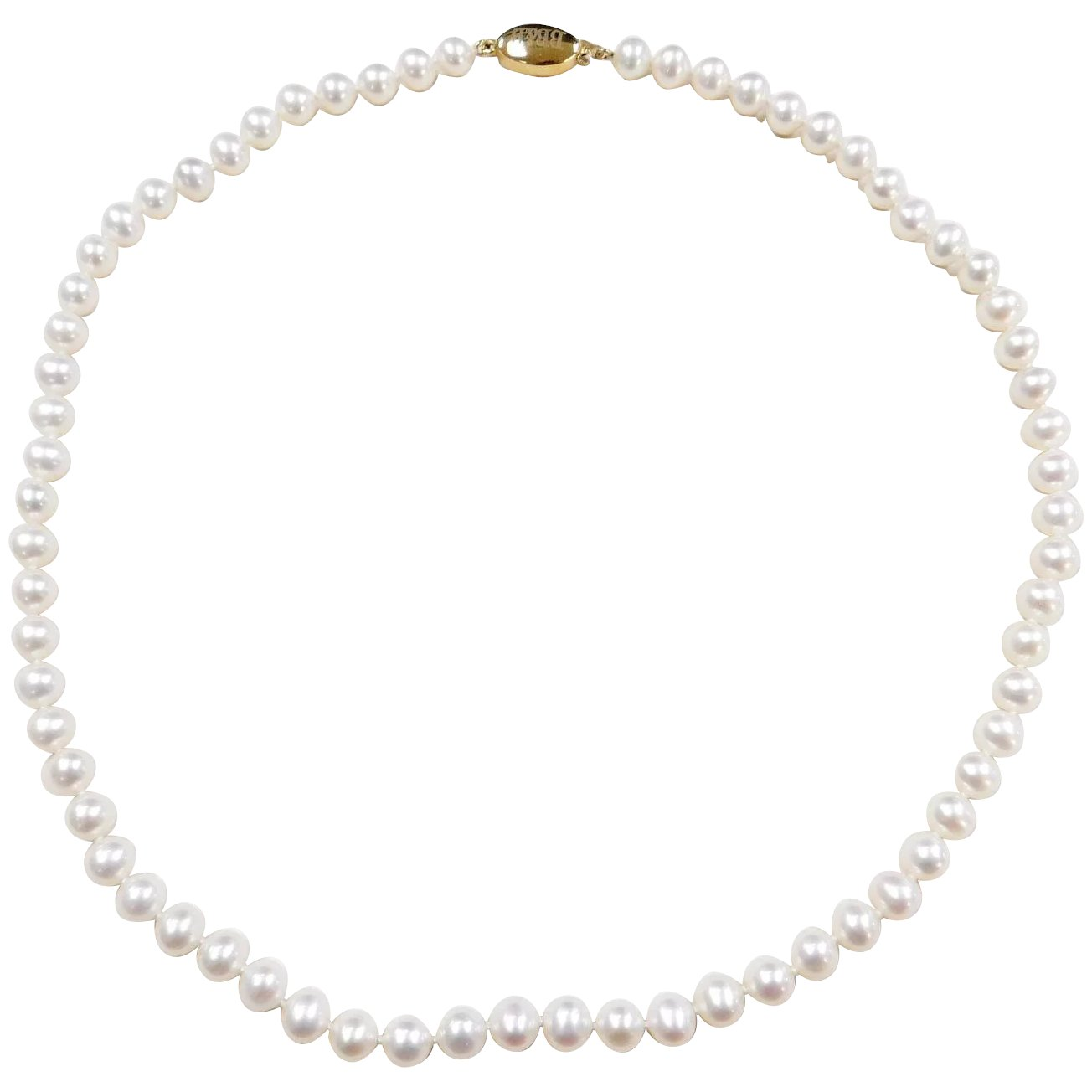 Vintage 14k Gold Strand Of Cultured Pearls Necklace 18 Bailey Banks Arnold Jewelers Ruby Lane