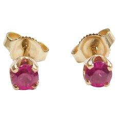 .50 ctw Pink Sapphire Stud Earrings 14k Gold