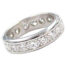 1.26 ctw Diamond Eternity Band Ring 18k White Gold