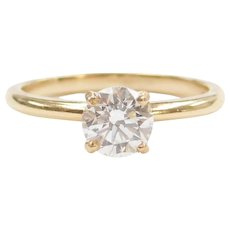 .97 Carat VS Diamond Solitaire Engagement Ring 14k Gold