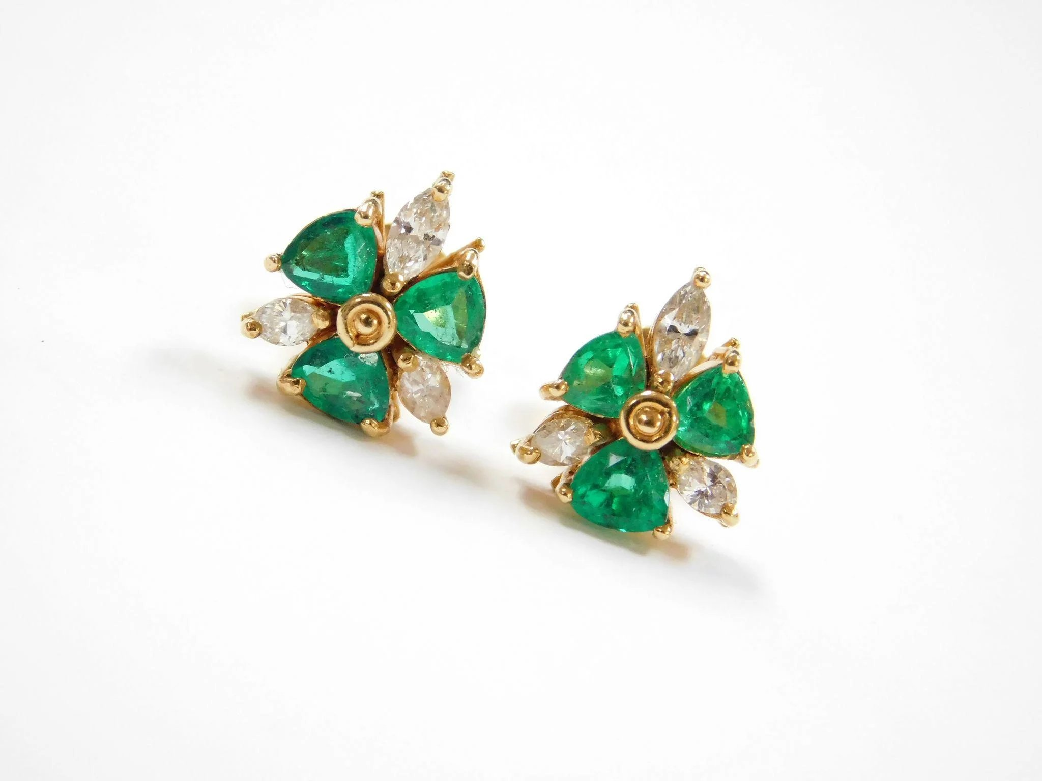 items buy diamond larger drop natural and l halo view earrings emerald sold