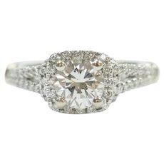 Designer Diamond 1.07 ctw Engagement Ring 14k White and Rose Gold Verragio
