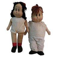 "Rare Georgene Novelties ""Little Lulu"" & ""Tubby Tom"" Dolls"