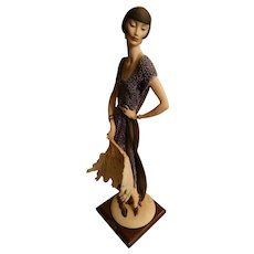 Giuseppe Armani Figurine Lady With Fan Limited Edition