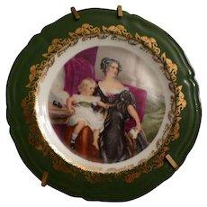 Miniature Limoges Portrait Plate - Red Tag Sale Item