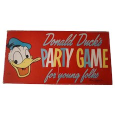 Vintage 1958 Walt Disney Donald Duck Party Game