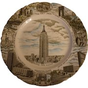 Vintage Johnson Brothers Empire State Building Plate
