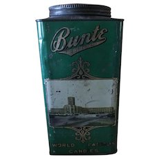 Green 1920s Bunte Brothers Chicago Candy Tin - Red Tag Sale Item