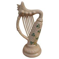 Belleek Shamrock Harp