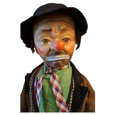"Vintage Emmett Kelly ""Willie the Clown"" doll - 21"""