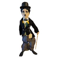 "Vintage 19"" Charlie Chaplin doll"
