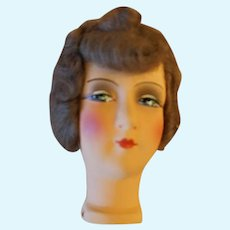 German Paper Mache Flapper Doll Head