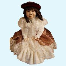 """Pat Thompson Vlasta doll - """"Girl with Red Velvet Hat"""""""