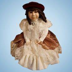 "Pat Thompson Vlasta doll - ""Girl with Red Velvet Hat"""