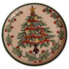 """Vintage Lefton 8"""" Christmas Tree Dessert Plate"""