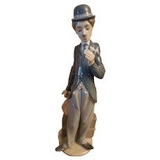Rare Lladro Retired Charlie Chaplin Figurine