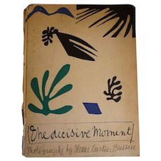 """Henri Cartier Bresson """"The Decisive Moment"""" Original 1952 Edition"""