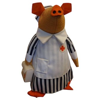 Vintage Rare Patico Nurse Pig