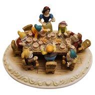 "L.E. Disney Olszewski Miniature ""Time to Wash"" Seven Dwarfs Figure"