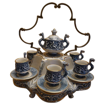 R. Capodimonte Cherub Demitasse Tea Set