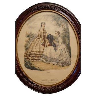 Original 19th Century French Fashion Print