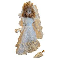 """Mid-Century 20"""" Madame Alexander Bride Doll -"""