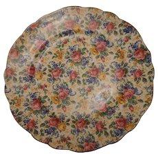 "Vintage James Kent Chintz Plate - ""Rosalynde"" Pattern"