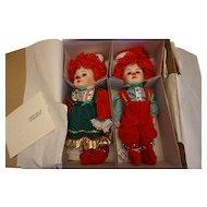 """Marie Osmond """"Twins"""" Jingle & Belle L.E. Dolls"""