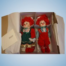 "Marie Osmond ""Twins"" Jingle & Belle L.E. Dolls"