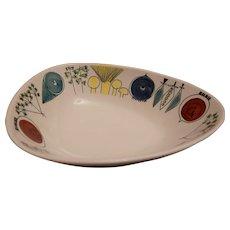 Mid-Century Swedish Rorstrand Picknick Kidney Shaped Bowl