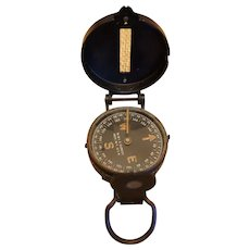 Original WW2 Field Compass W & LE Gurley