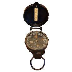 Original WW2 Field Compass W & LE Gurley