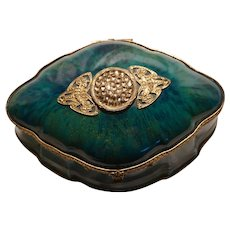 Paul Milet Sevres French Porcelain Art Deco Vanity Box