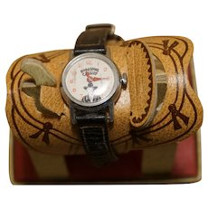 Hopalong Cassidy Watch with Saddle Display Box - Working