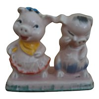 Vintage Regal China One Piece Pig Couple Salt & Pepper Shakers