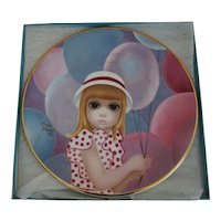"Artist Margaret Keane ""The Balloon Girl"" Display Plate Crown Ducal England"