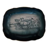Buffalo Pottery Buffalo Hunt Serving Platter